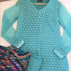 Dresses & Skirts - New turquoise blue Pakistani/ Indian suit